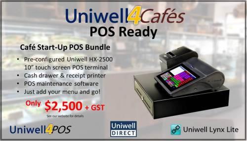 Uniwell4Cafes POS Ready bundle promotion