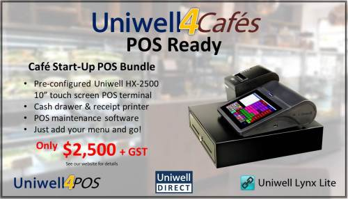 Uniwell4Cafes POS Ready bundle promotion