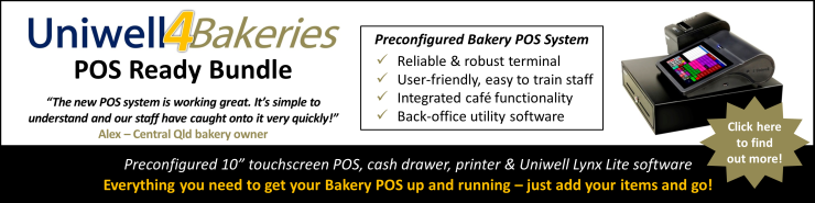 POS solutions for bakeries in Brisbane Sydney Melbourne Adelaide Perth