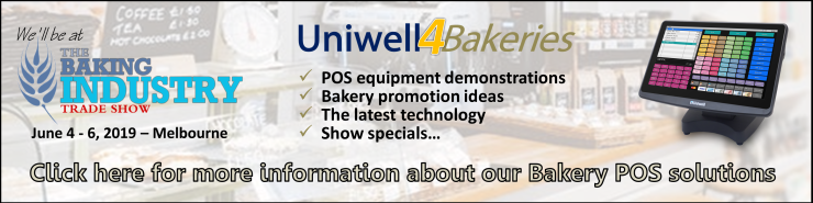 Uniwell POS Australia at the Baking Industry Trade Show - bakery POS systems